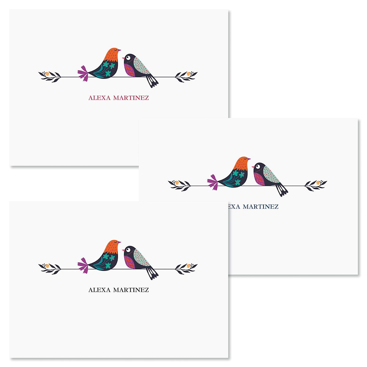 Chickadees Folded Note Cards