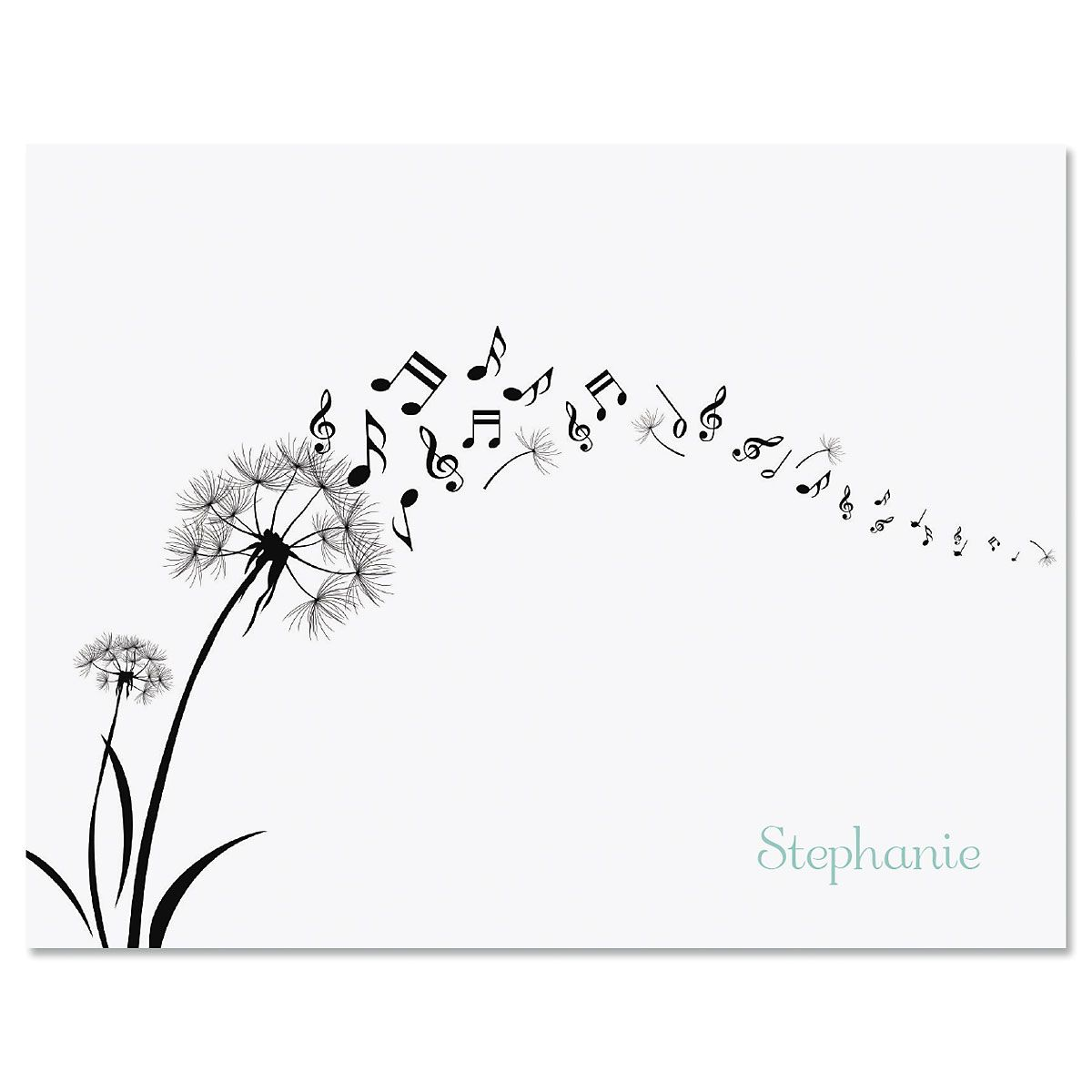 Dandelion Notes Folded Note Cards