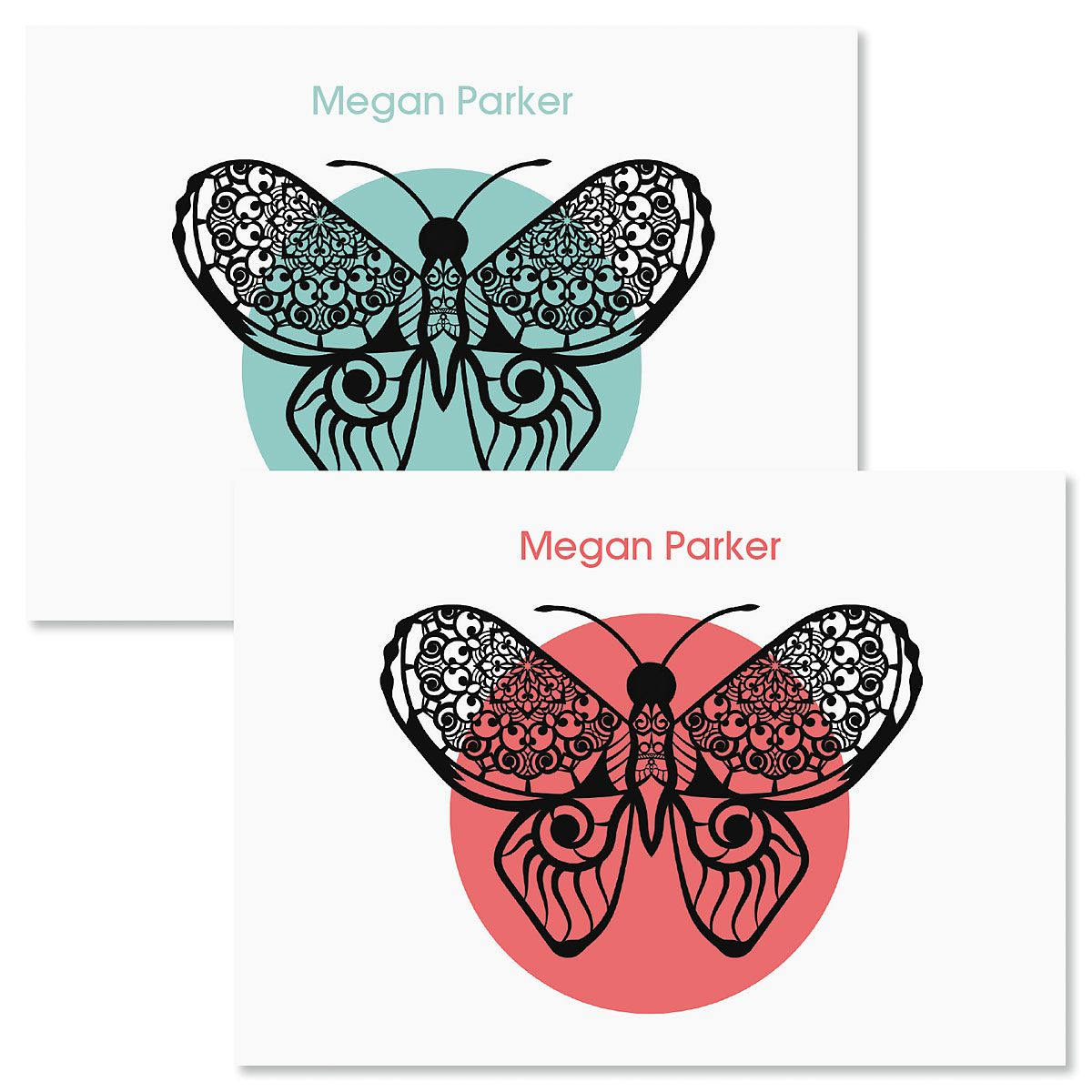 Print Butterfly Folded Note Cards