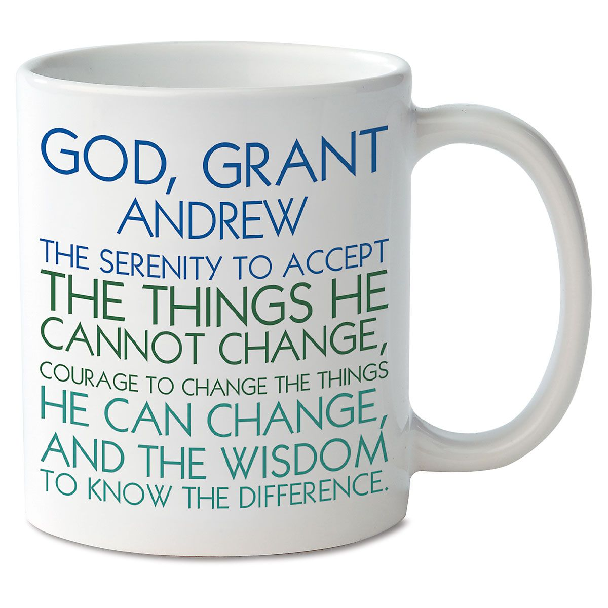 Personalized Serenity Prayer Mugs