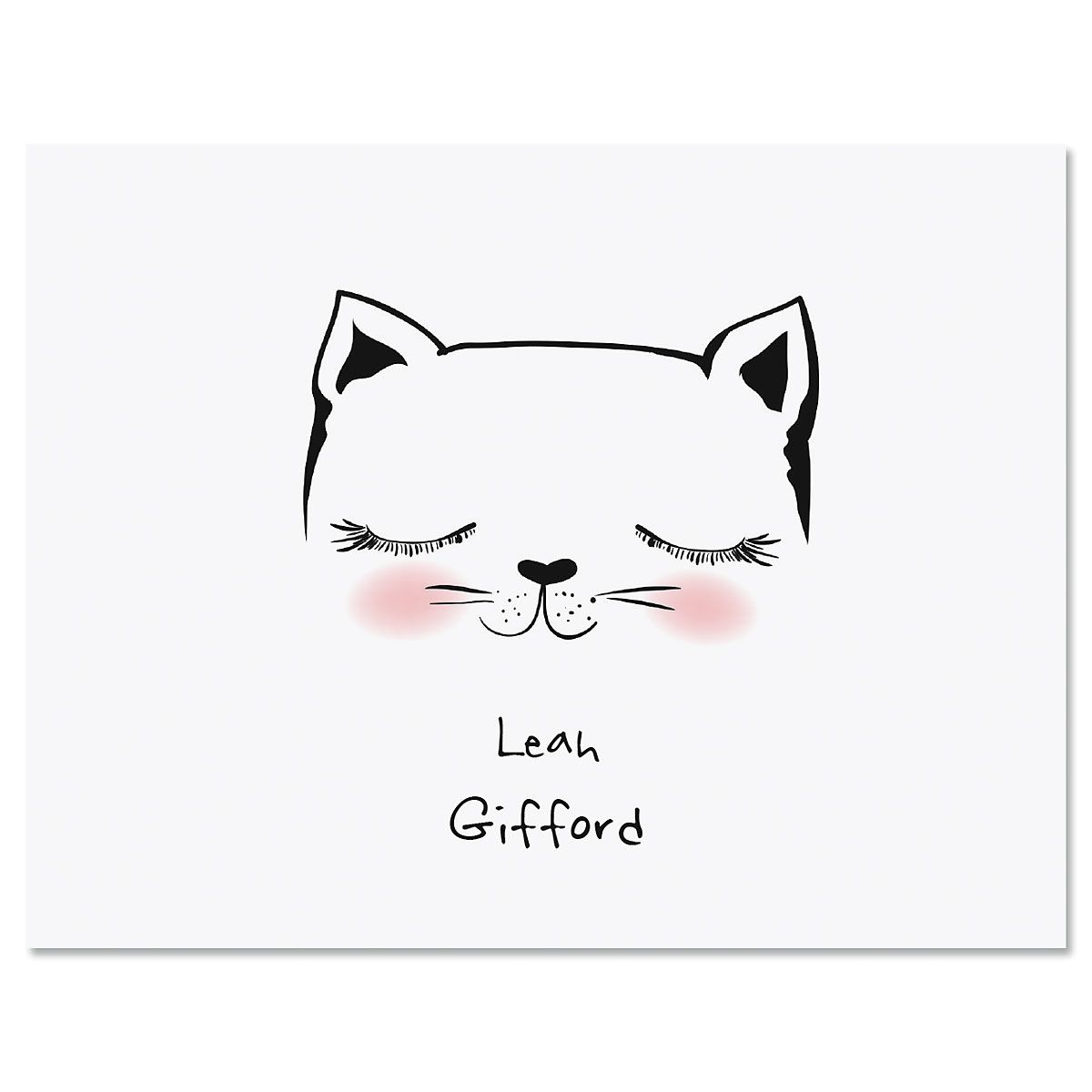 Kitty Ears Folded Note Cards