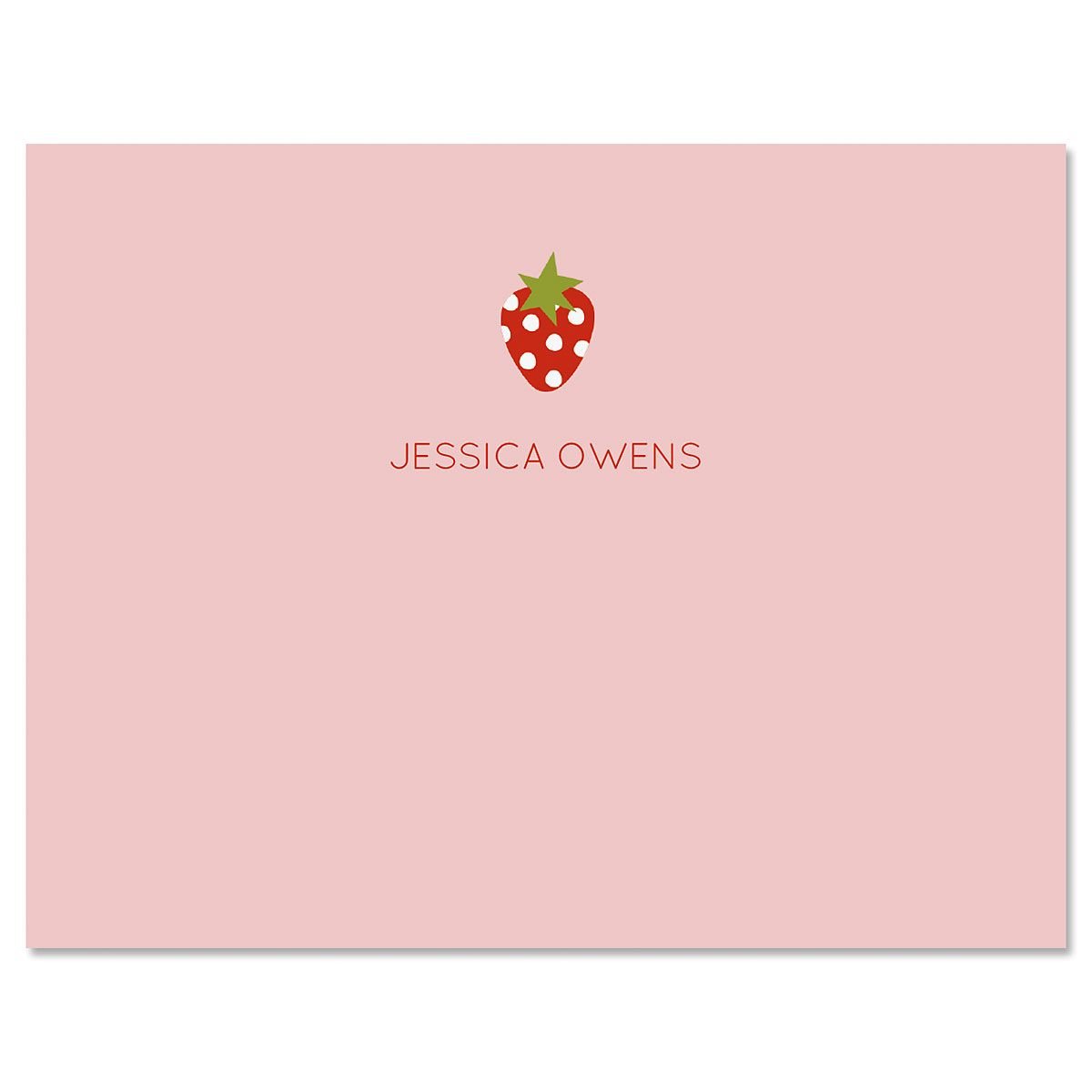 Baby Strawberry Folded Note Cards