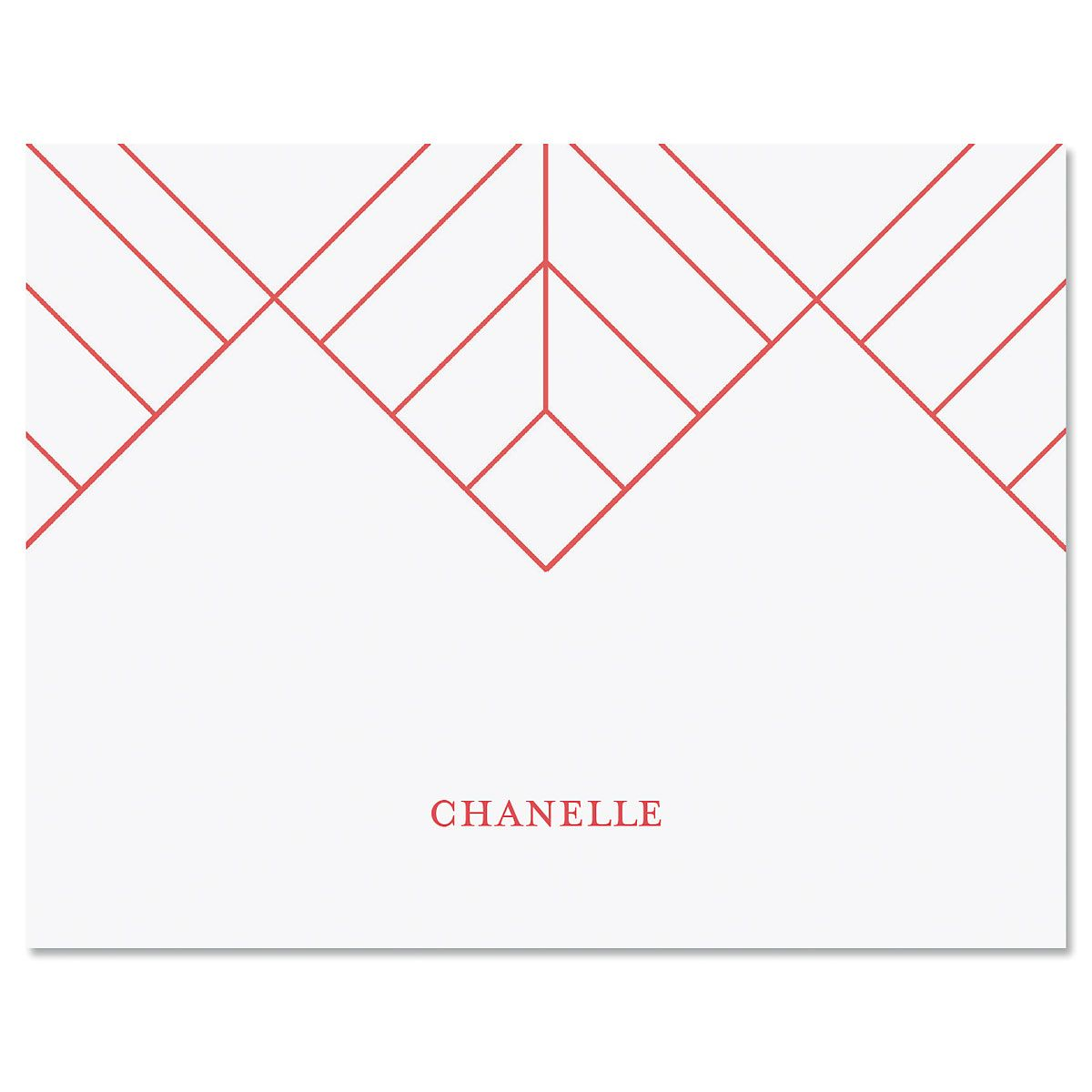 Diamond Lines Folded Note Cards