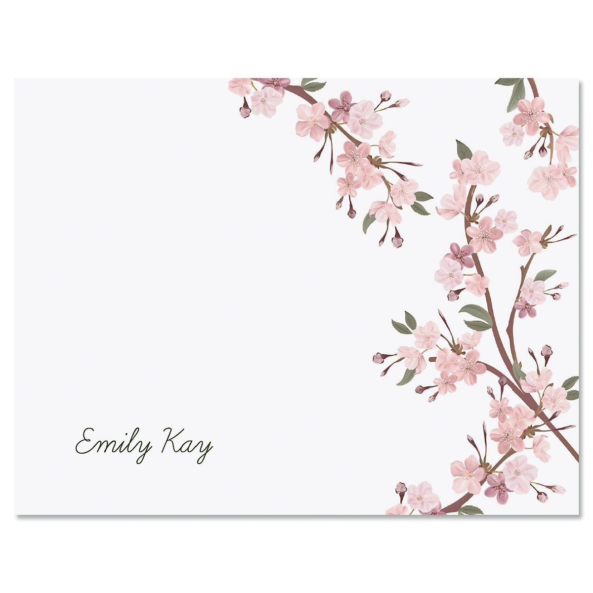 Cherry Blooms Folded Note Cards