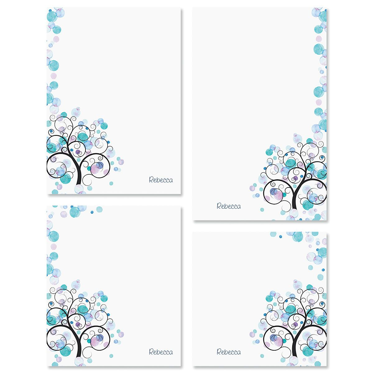 Watercolor Tree Notepads