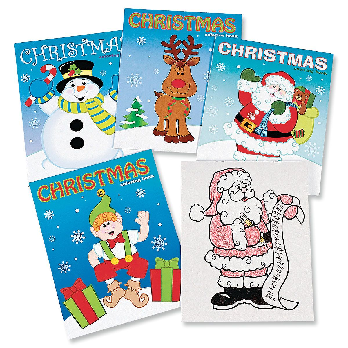 Assorted Christmas Coloring Books