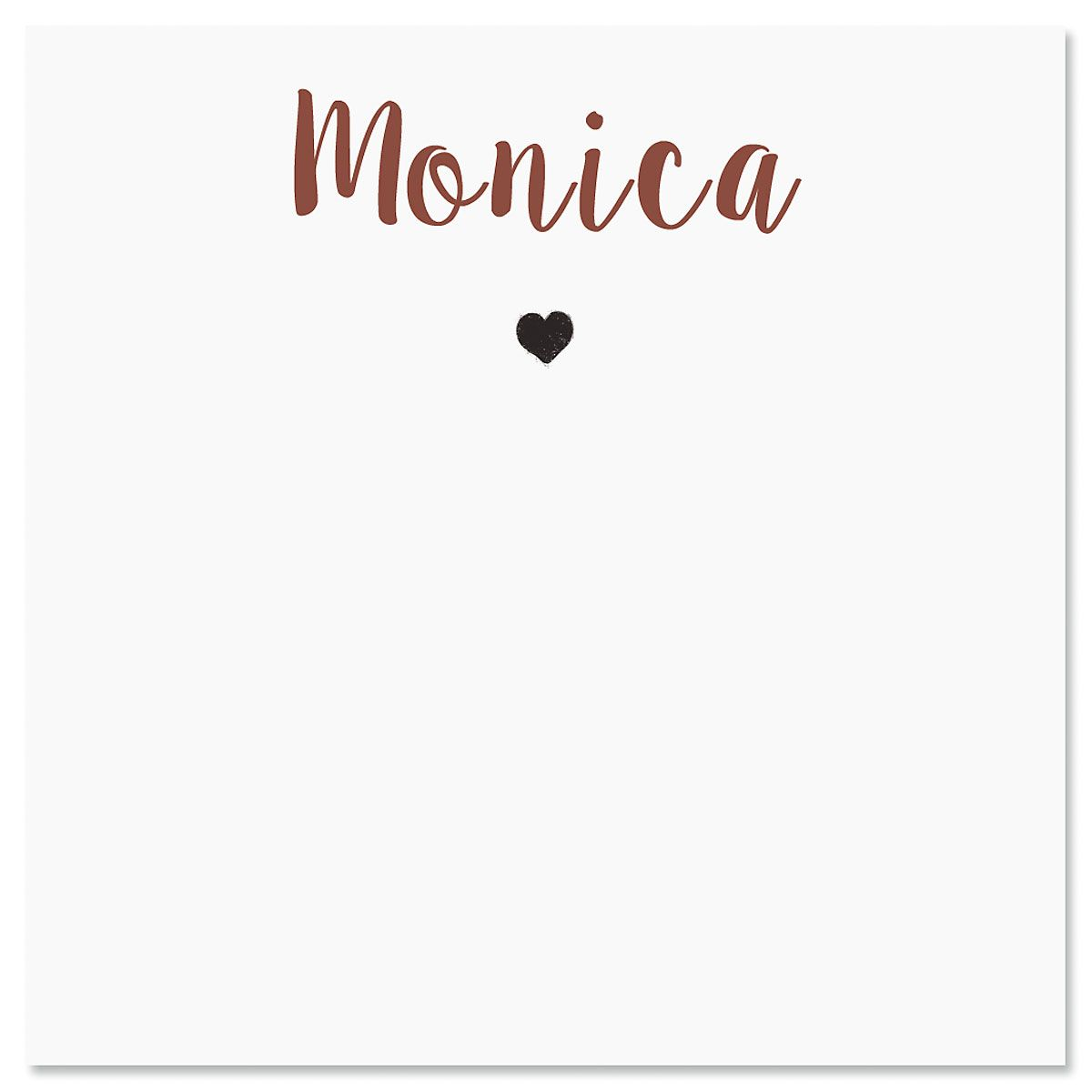Personalized Mini Heart Note Sheets in a Cube