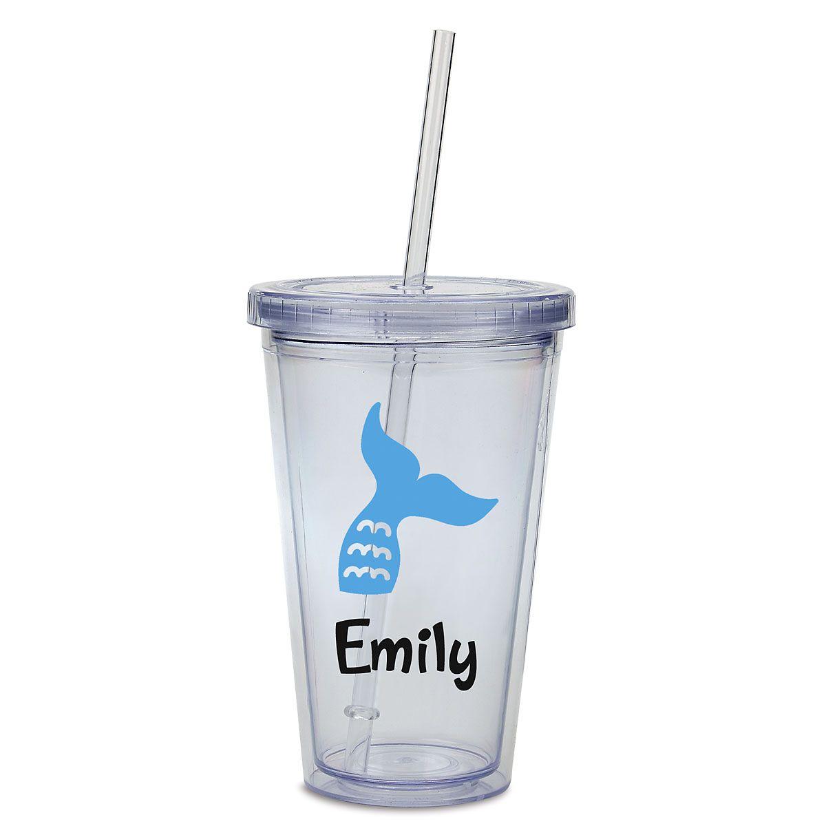 Custom Mermaid Acrylic Beverage Cup