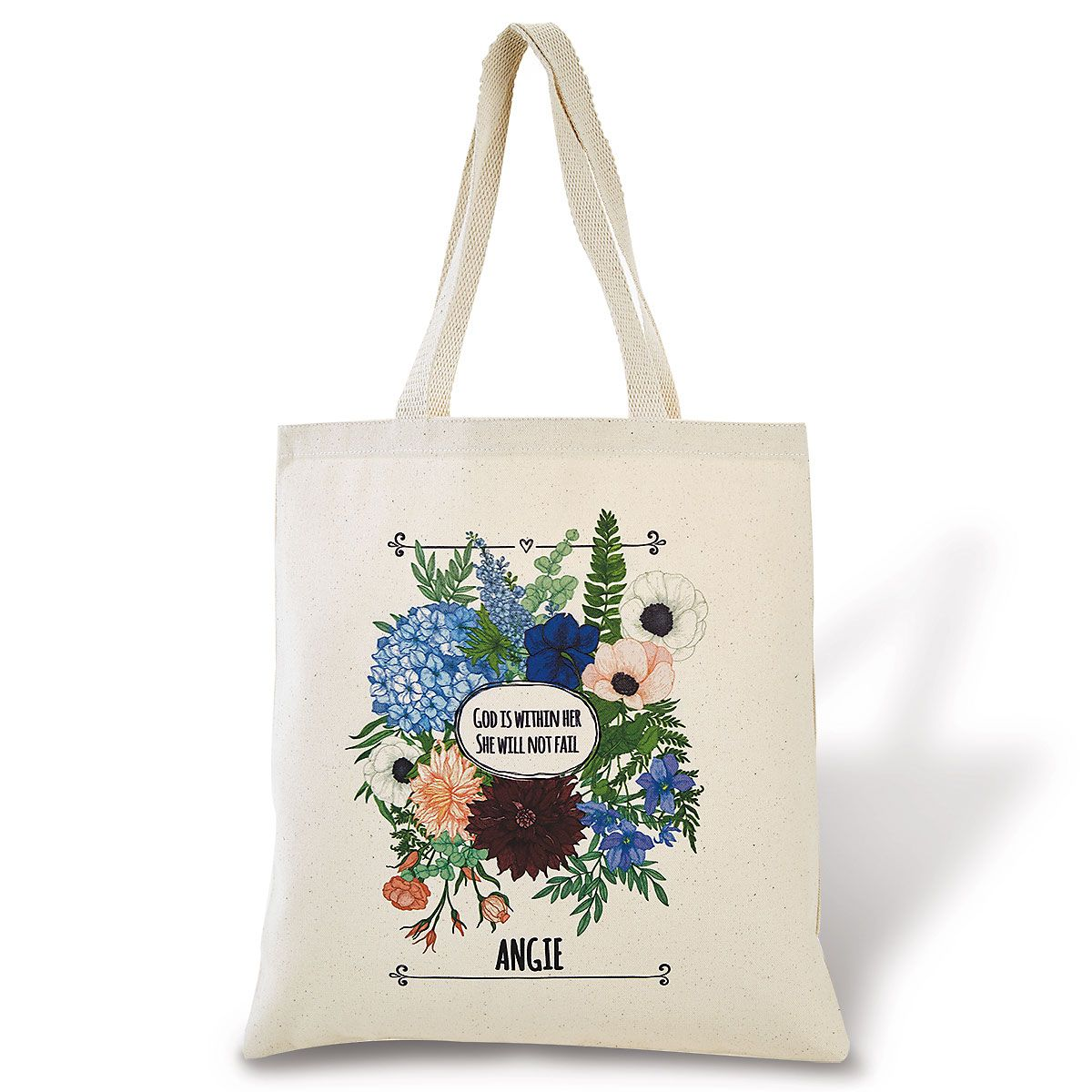 """""""God Is within Her""""  Personalized Tote"""