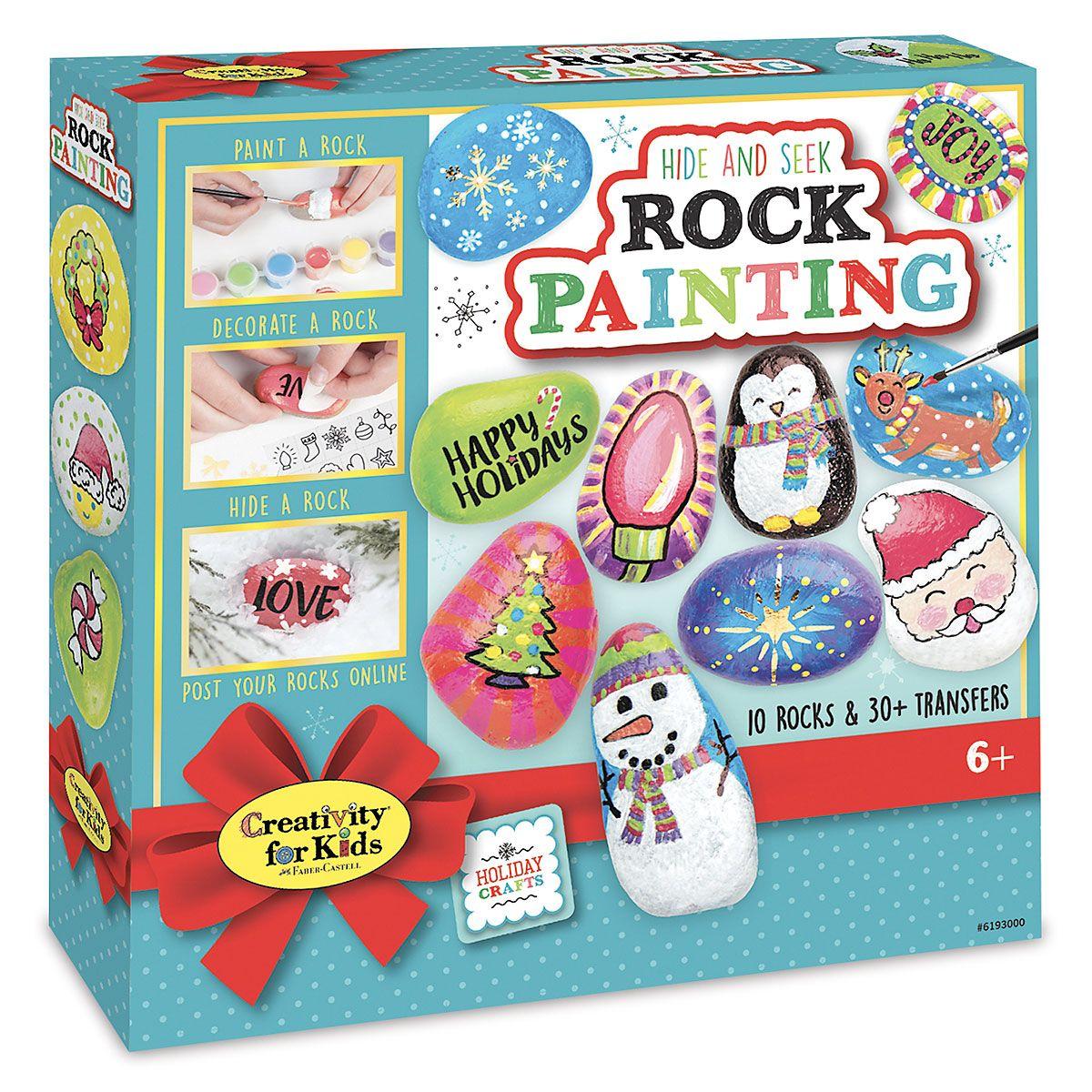 Holiday Hide & Seek Rock Painting Kit
