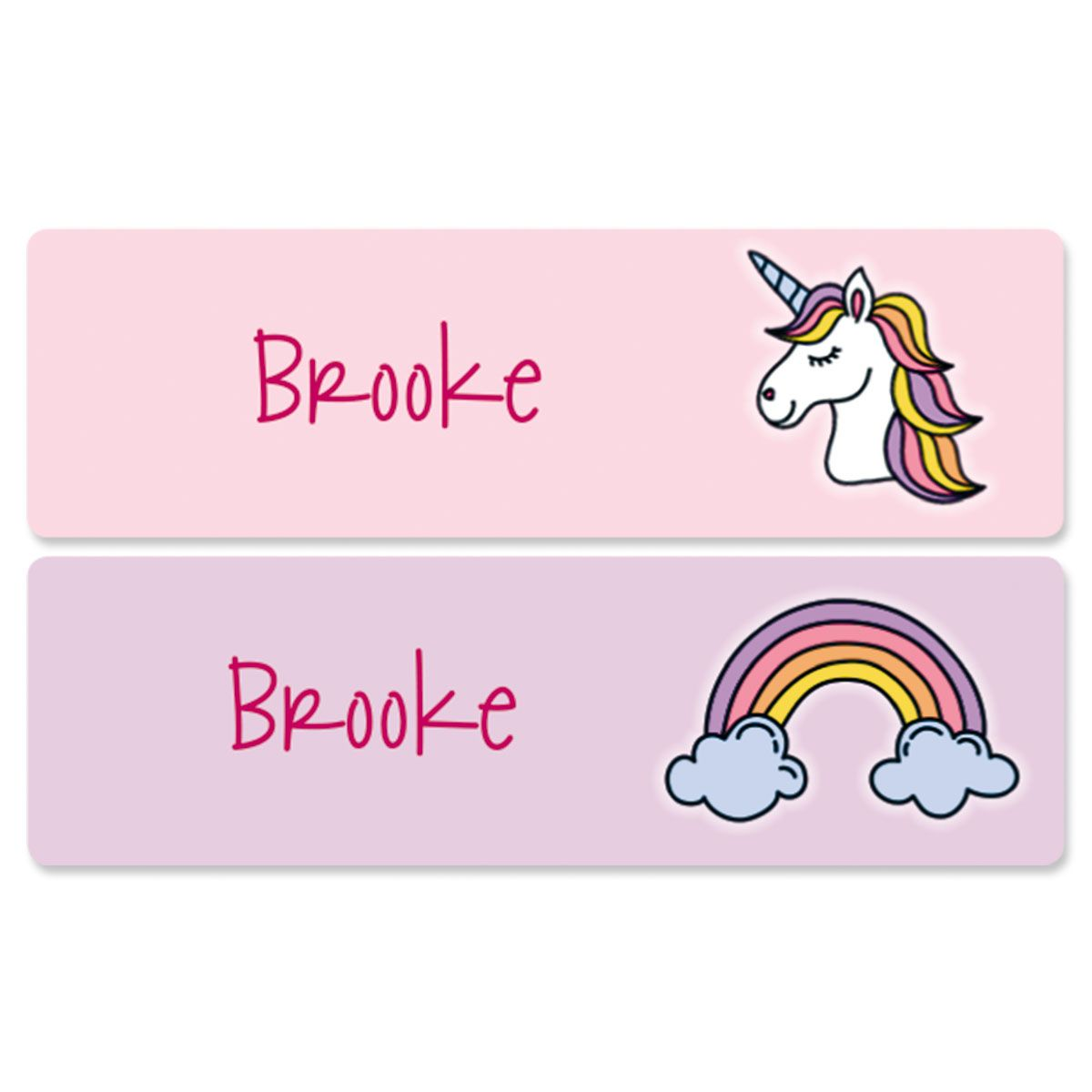 Unicorn Name Stickers