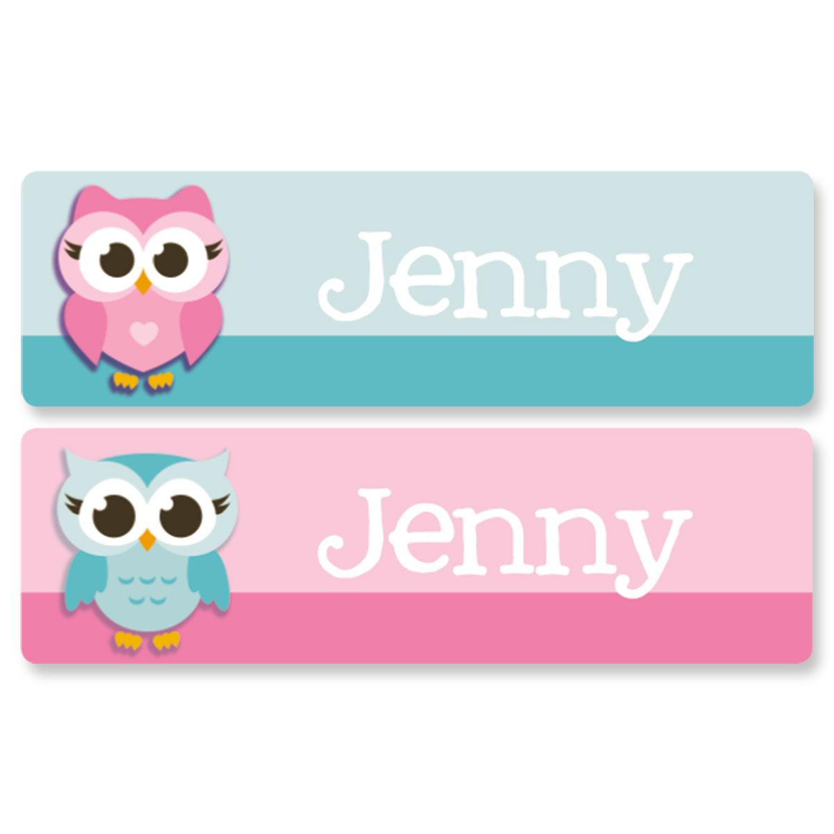 Little Owls Name Stickers