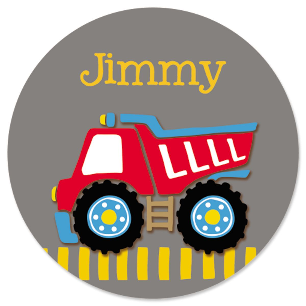 Red Dump Truck Stickers