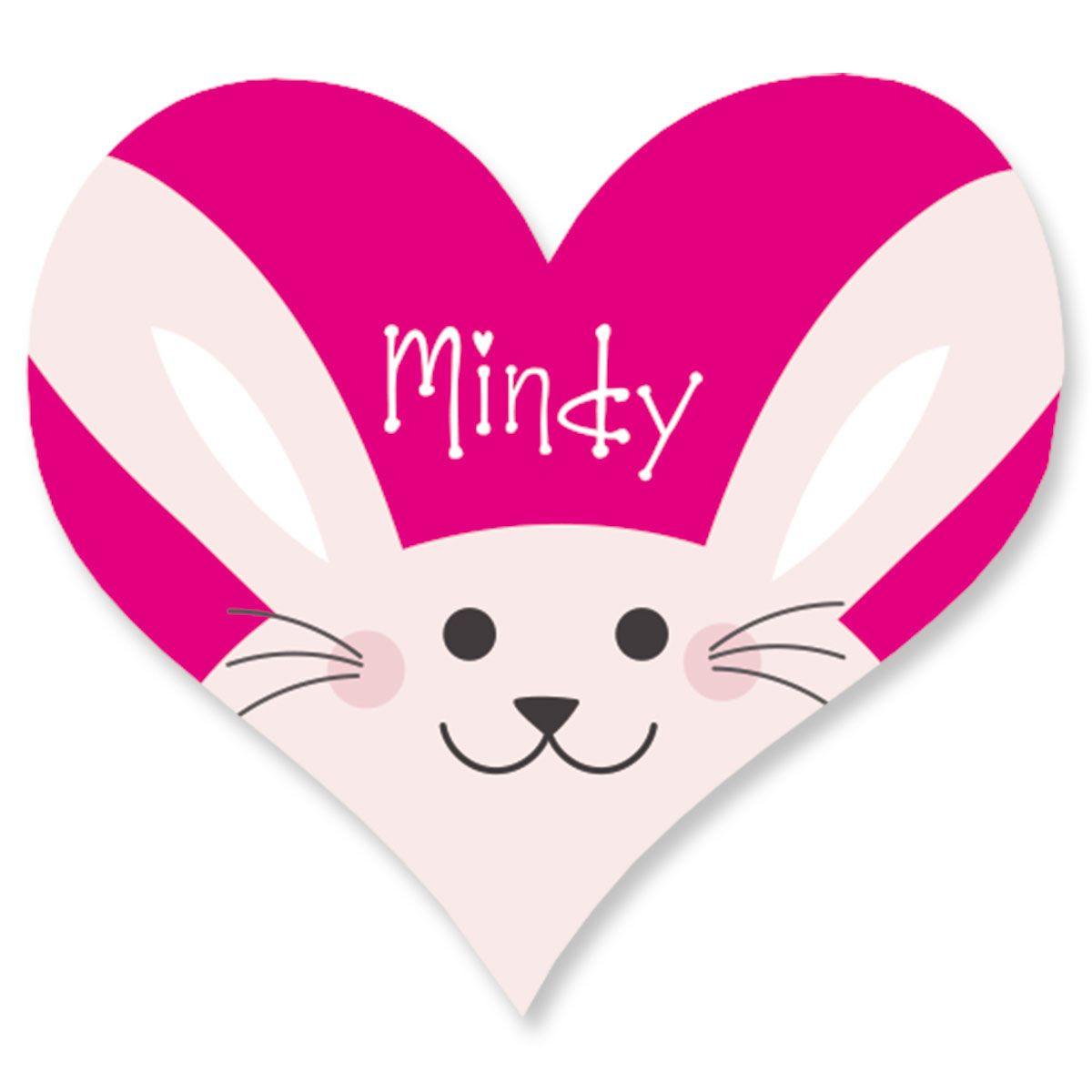 Easter Bunny Heart Stickers