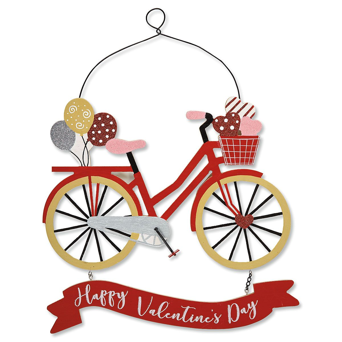 Wooden Valentine Bicycle Sign