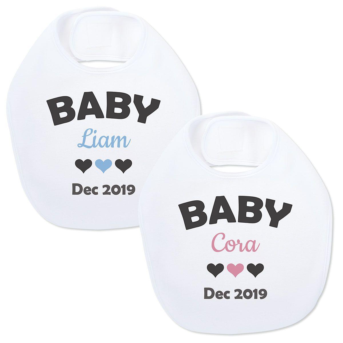 Announcement Baby Bib