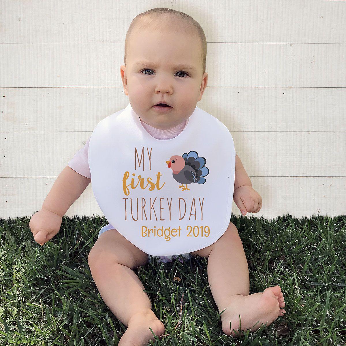 Baby's First Thanksgiving Bib