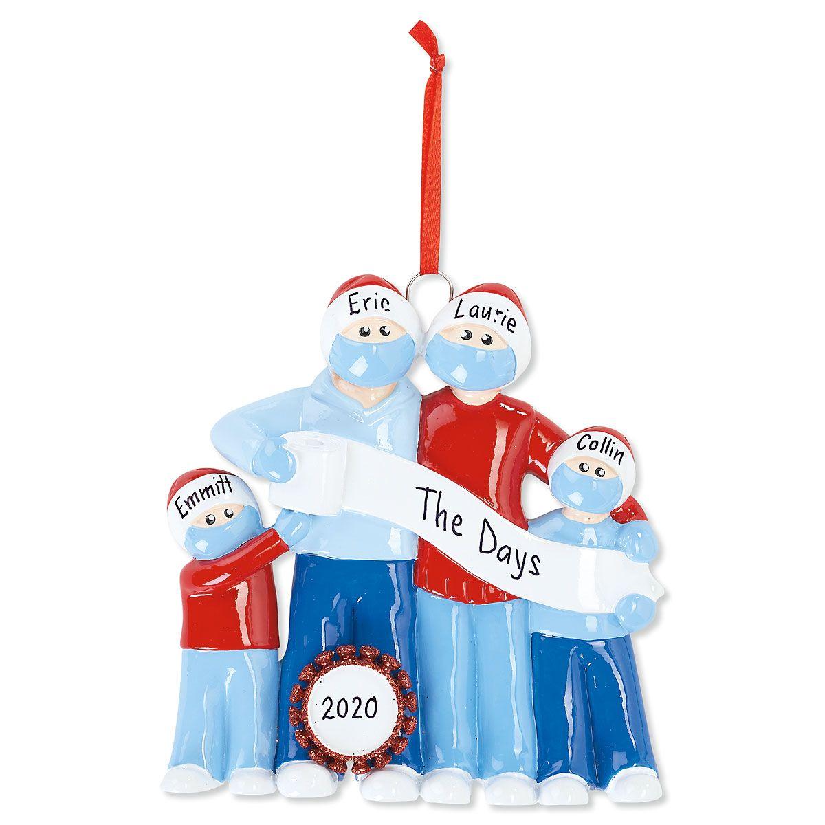 Quarantine Family Personalized Christmas Ornament