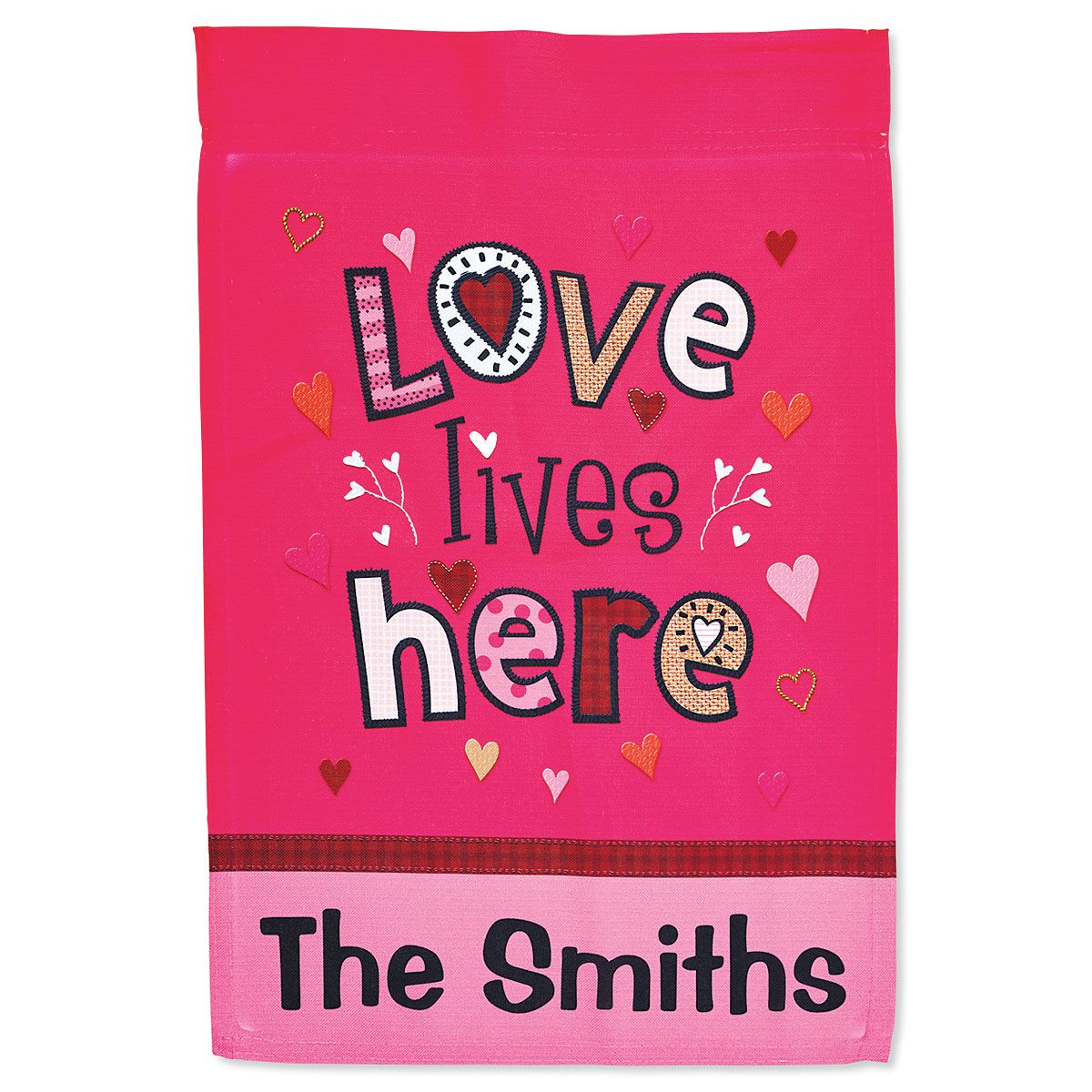 Personalized Love Lives Here Garden Flag