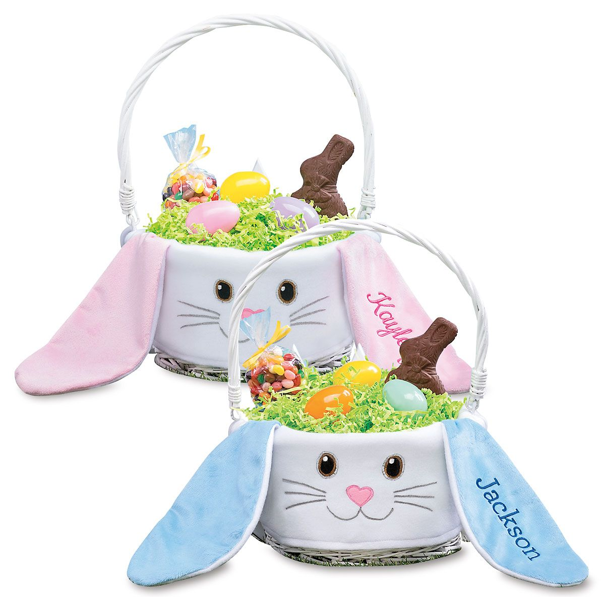 Bunny Face Personalized Easter Baskets