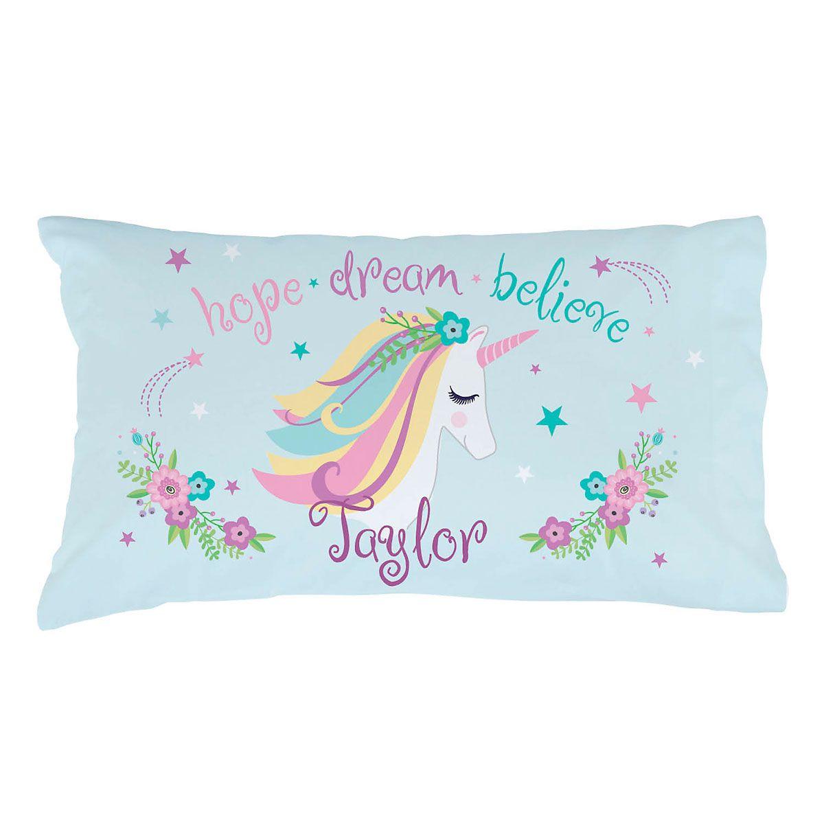 Personalized Unicorn Pillow Case