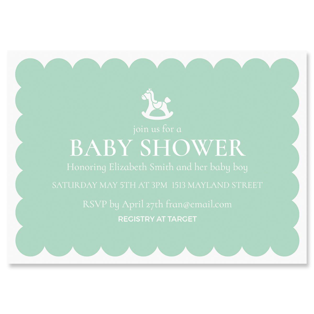 Rocking Horse Personalized Shower Invitation