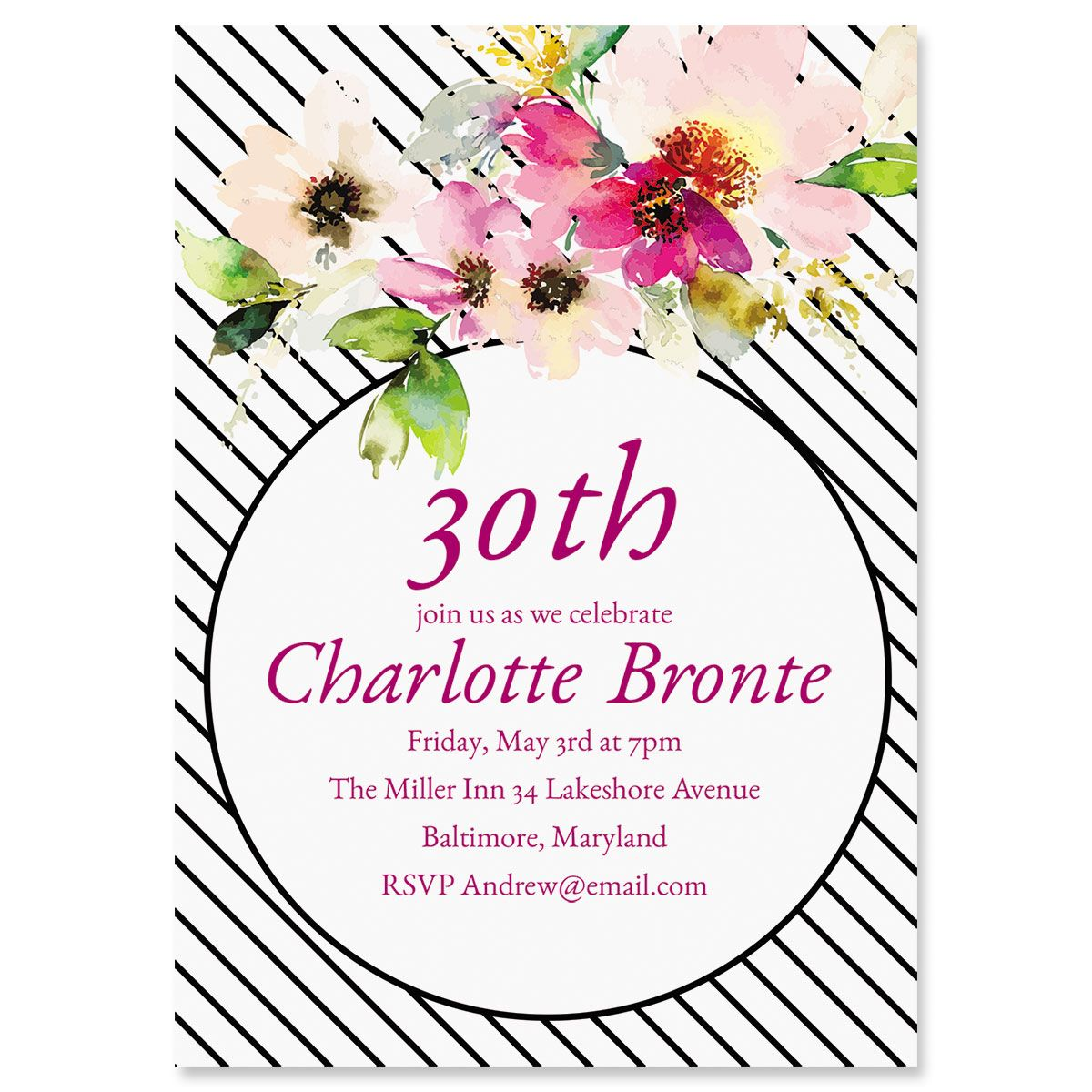 Charmed Milestone Personalized Invitations