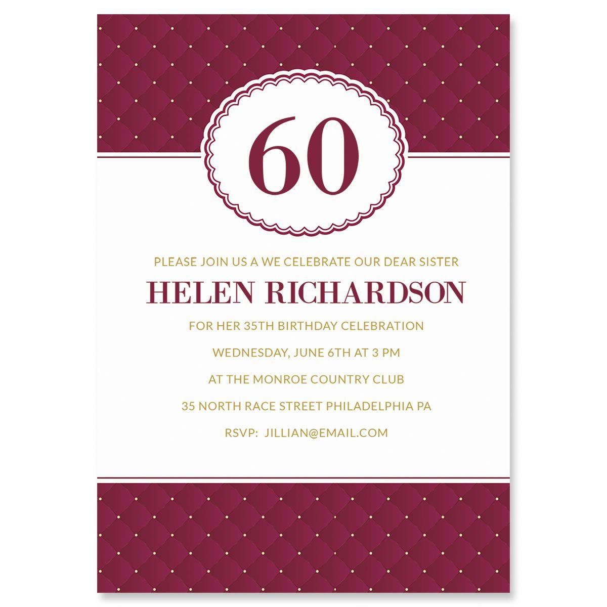 Plush Milestone Personalized Invitations