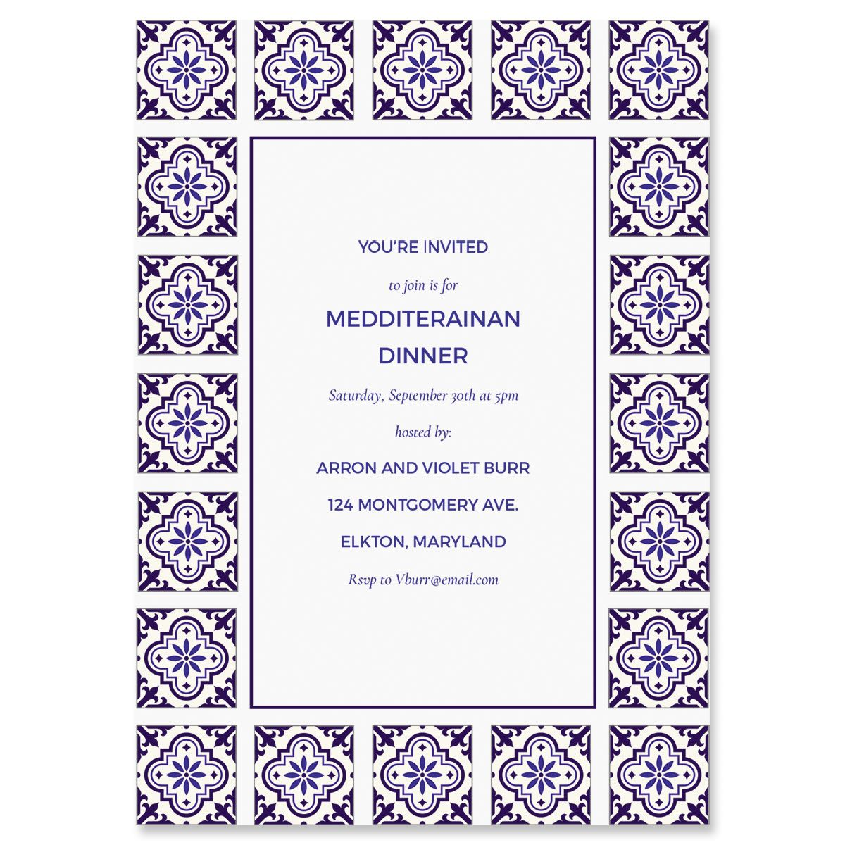Styled Mediterranean Personalized Invitations