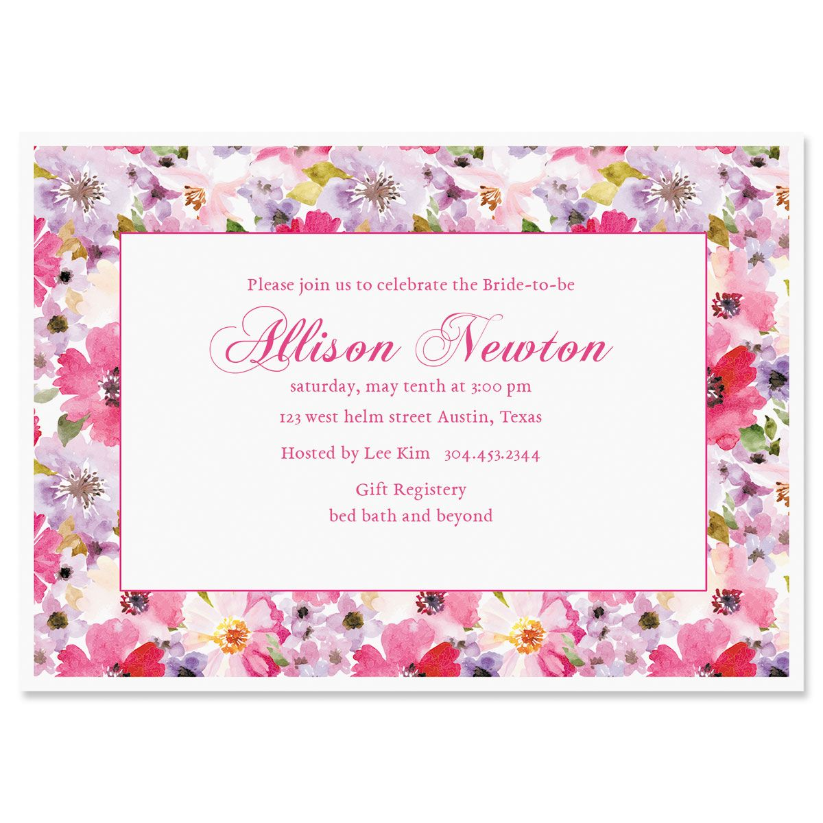 Bountiful Floral Personalized Invitations