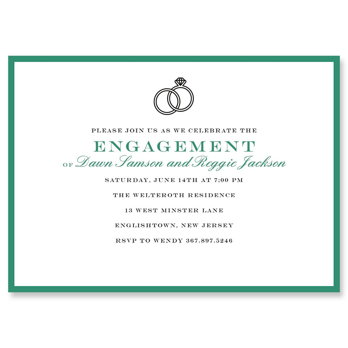 Entwined Ring Personalized Invitations