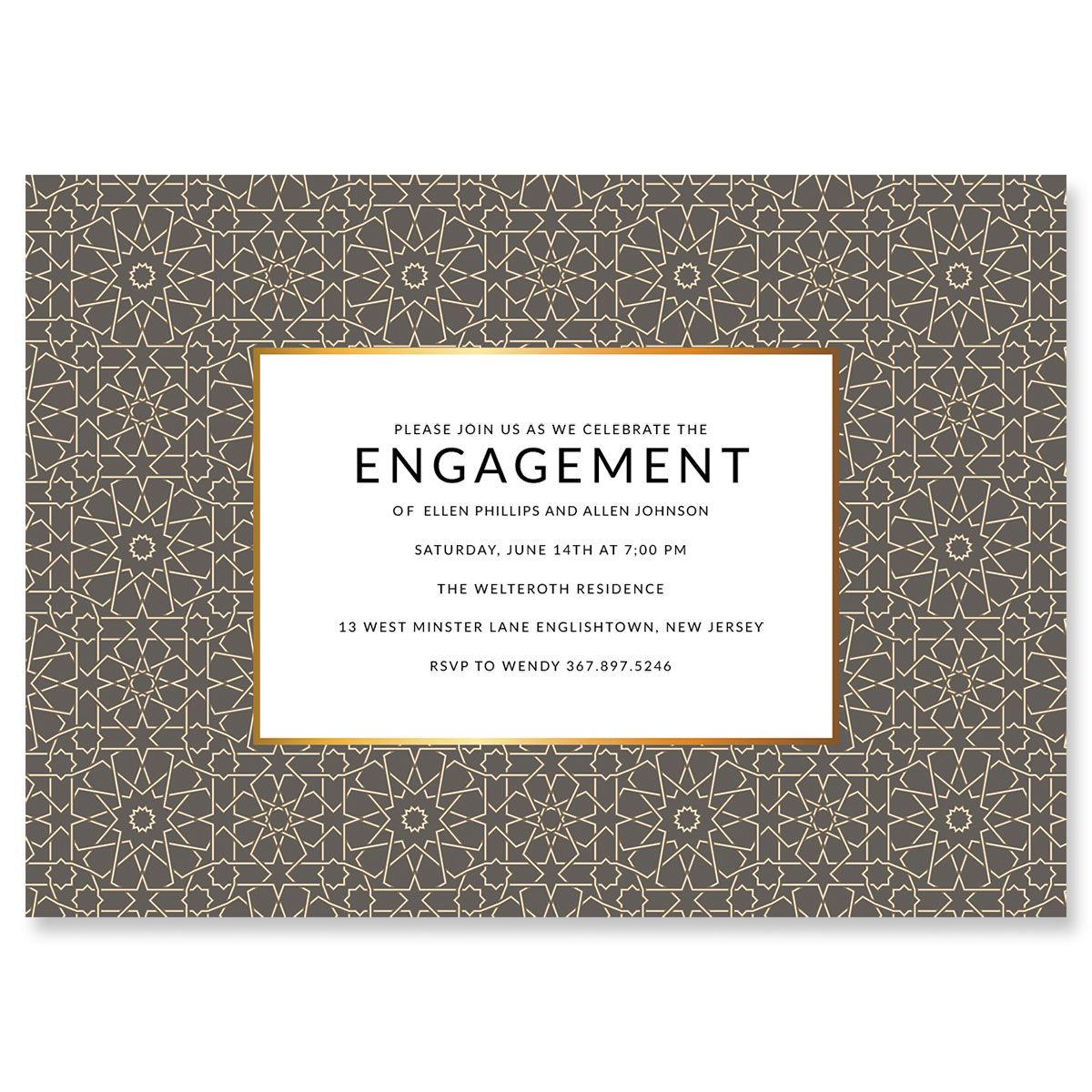 Lavish Geometric Personalized Invitations