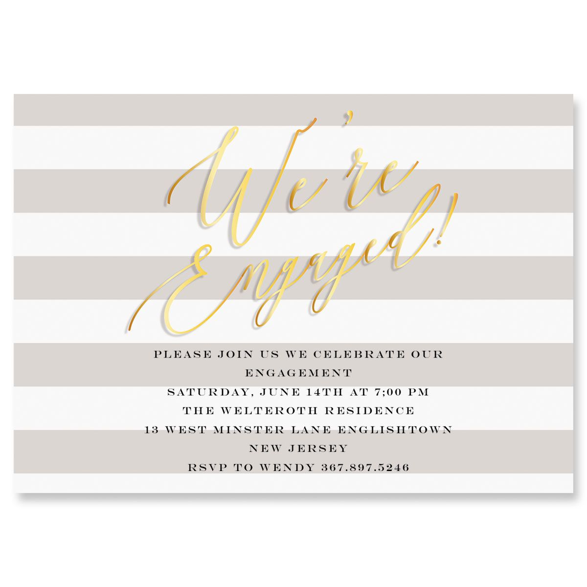 We're Engaged Personalized Invitations