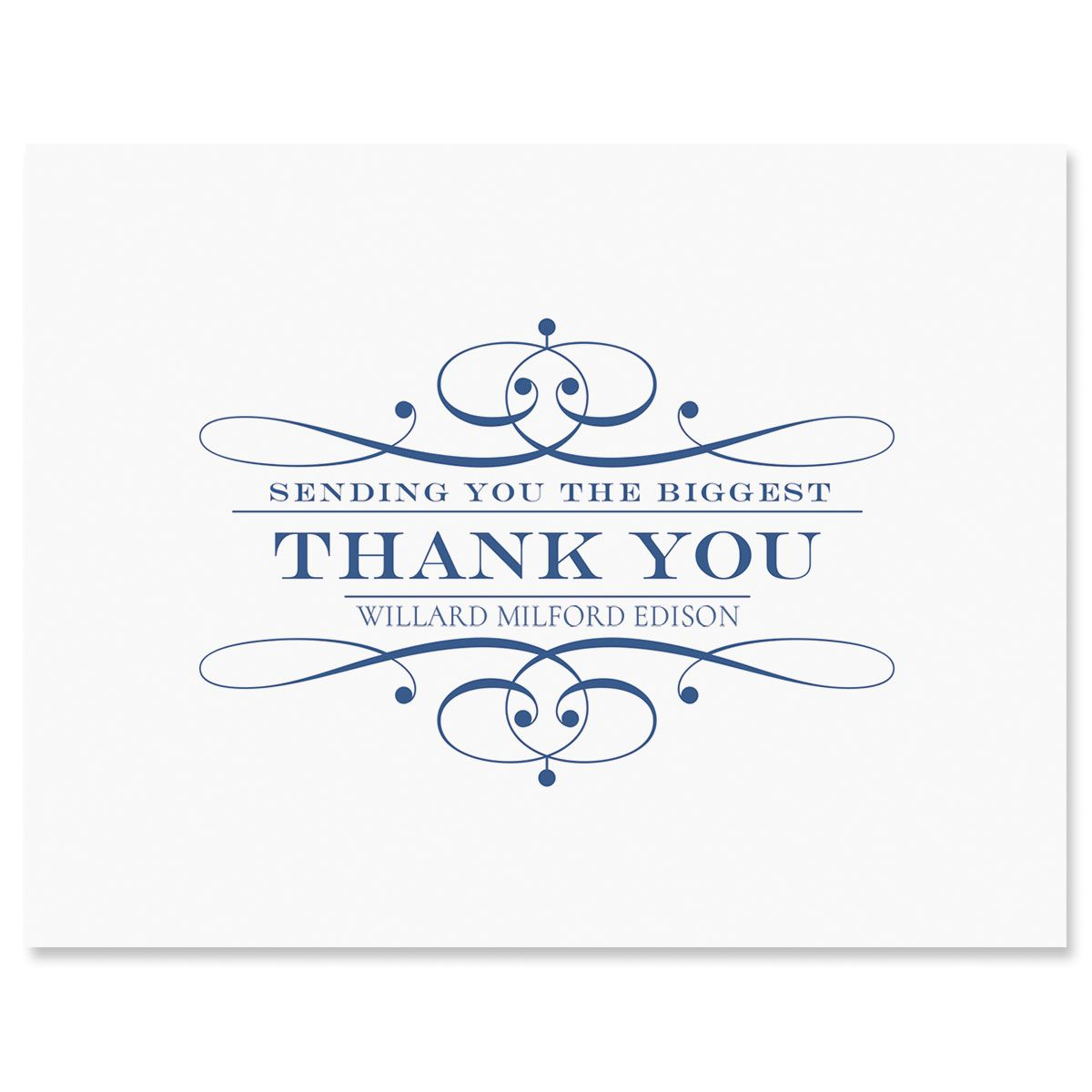 Elegant Personalized Thank You Cards
