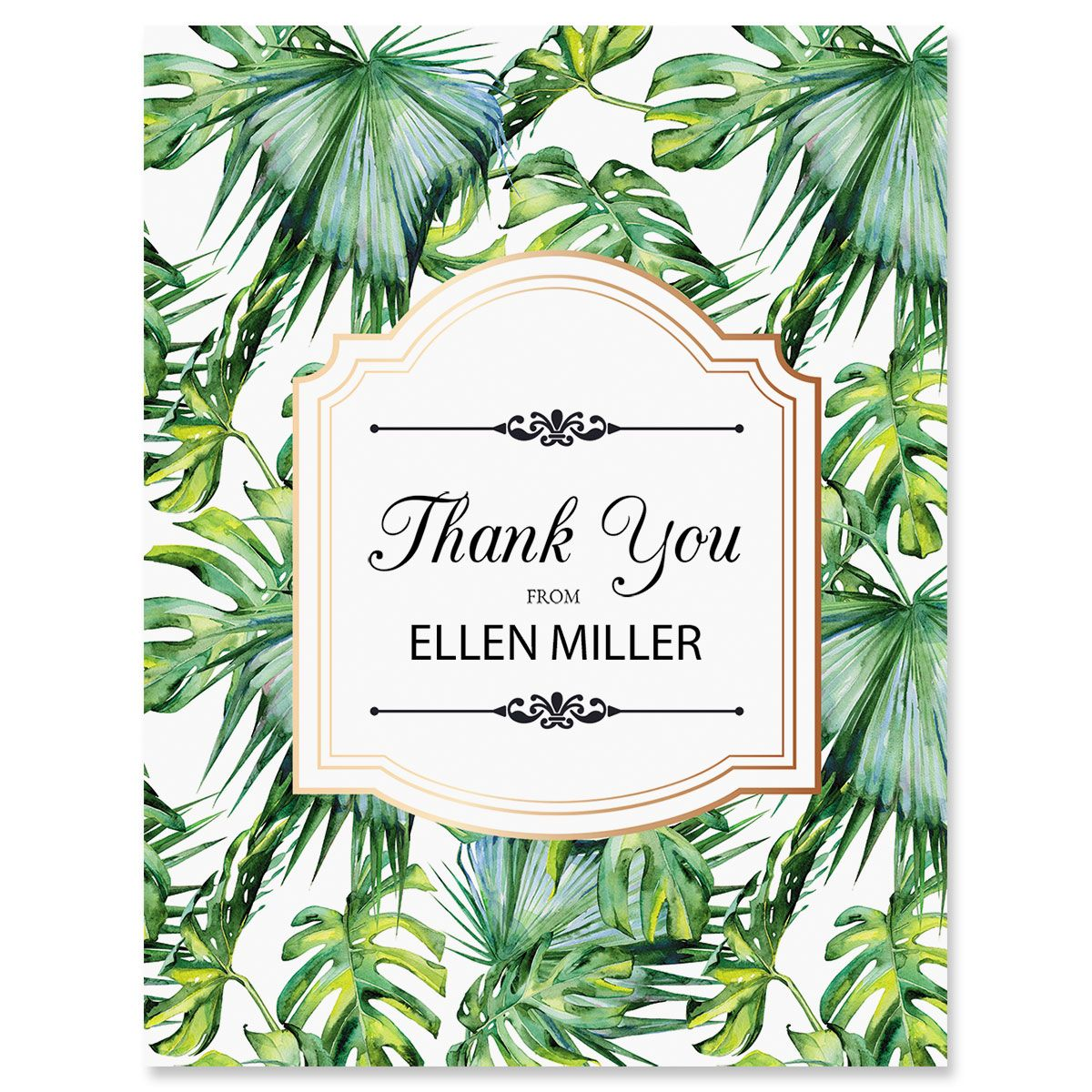 Palm & Gold Personalized Thank You Cards