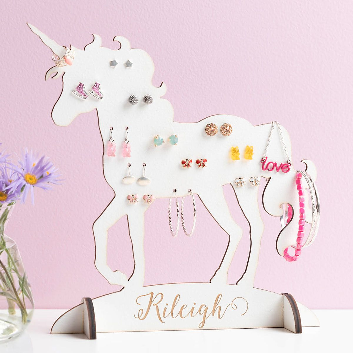 Personalized Unicorn Jewelry Stand