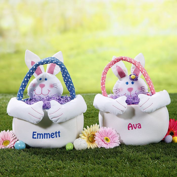 Easter Bunny Personalized Tote-Boy Bunny-029227