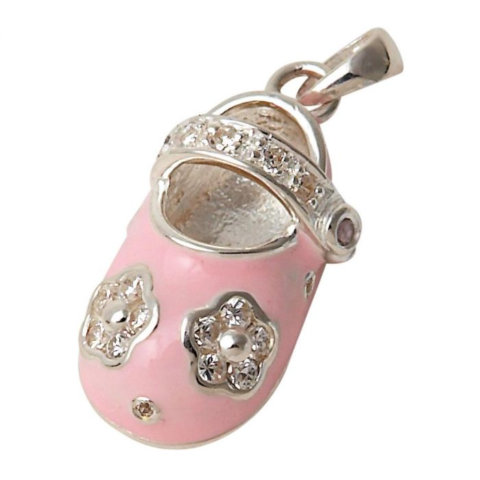 Sterling Silver Pink Mary Jane Charm