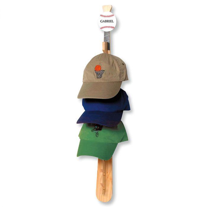 Personalized Baseball Cap Rack