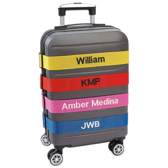 Personalized Luggage Strap - Pink