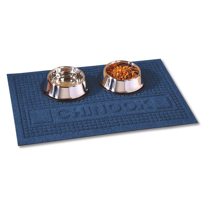 Textured Pet Dining Mat-Blue-2L094C