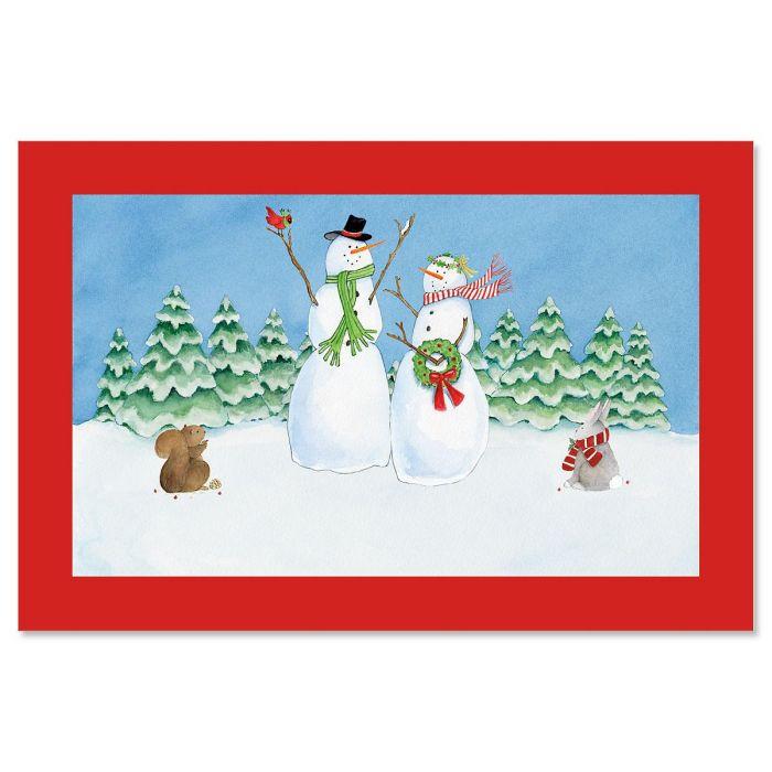 Snow Family Doormat