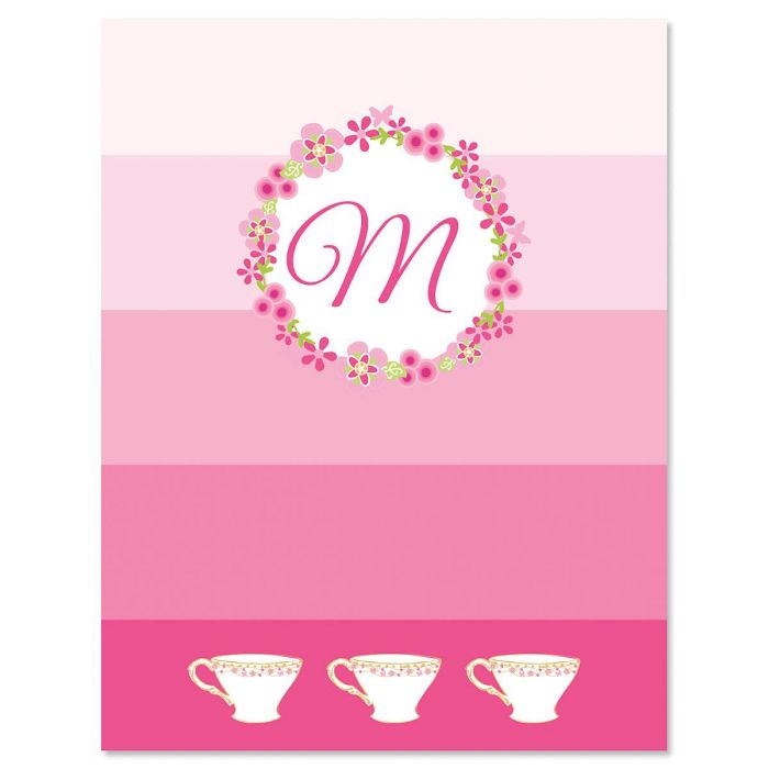 tea party note cards tea party note cards - Initial Note Cards