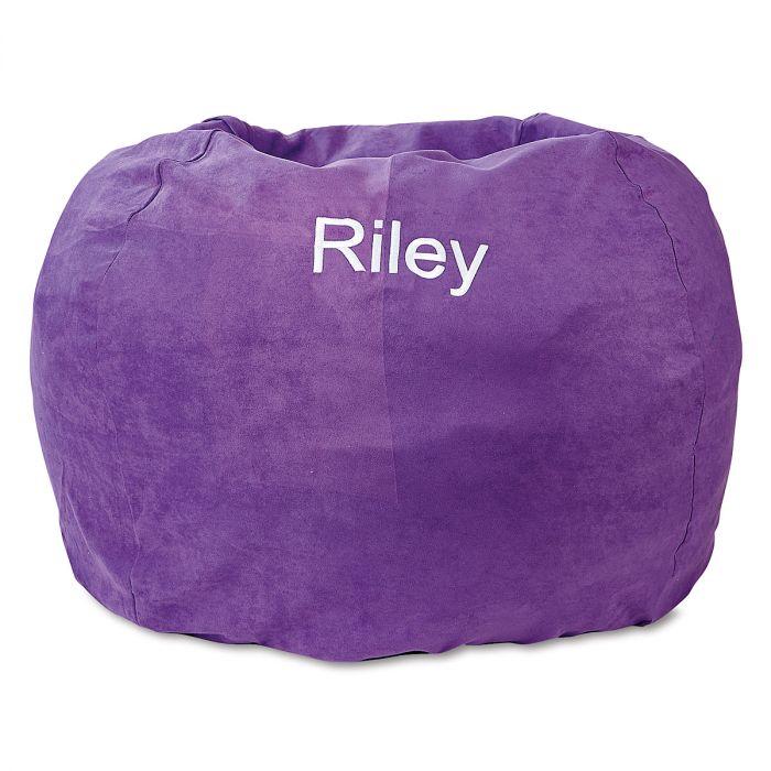 Purple Personalized Bean Bag Chair