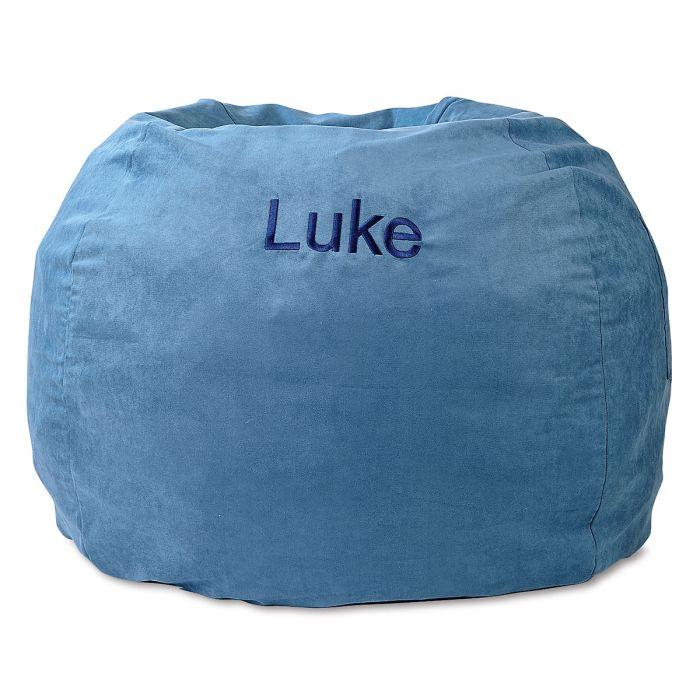 blue personalized bean bag chair lillian vernon
