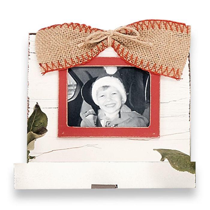 White Stocking Holder Frame by Mud Pie