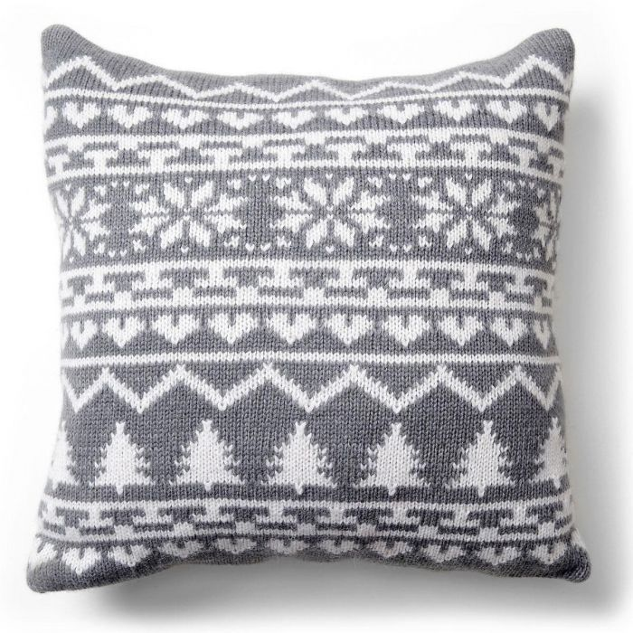 Peaceful Night Knit Pillow