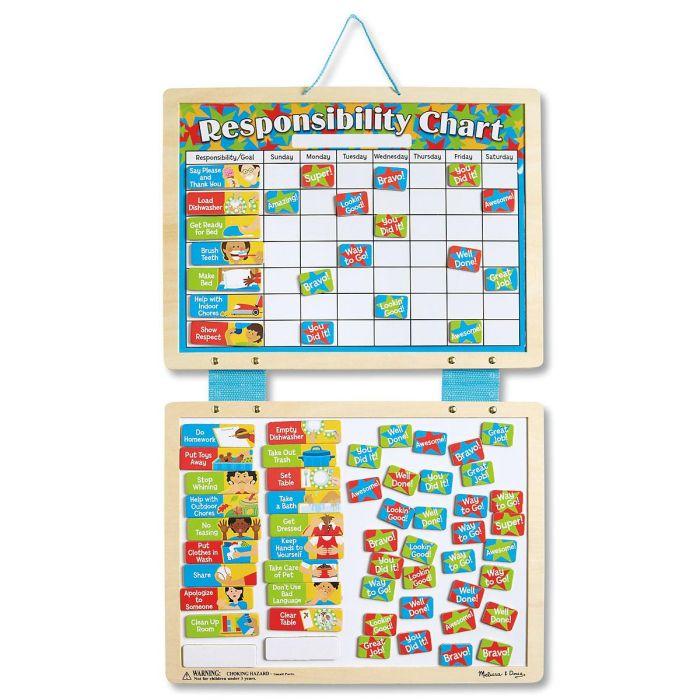 Melissa & Doug® Magnetic, Dry-Erase Responsibility Chart