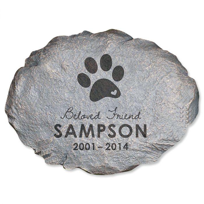Beloved Friend Personalized Pet Memorial Stone
