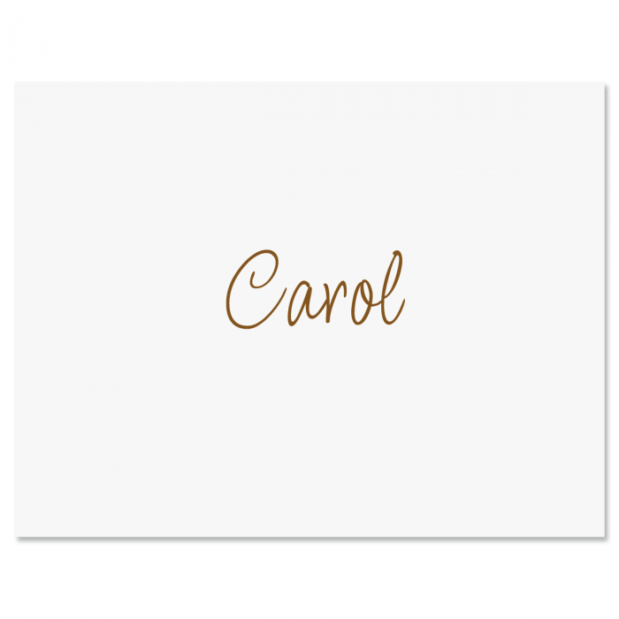 Casual Note Cards-Brown-604080A